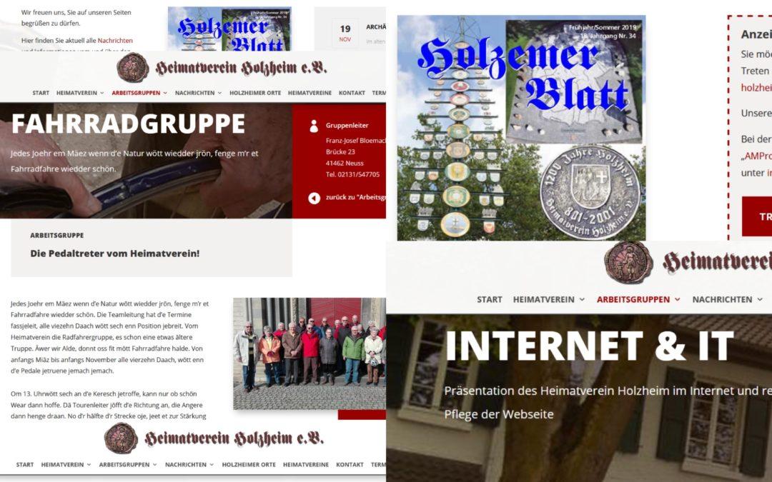 Sponsor der Internetpräsenz des Heimatvereins Holzheim e.V.
