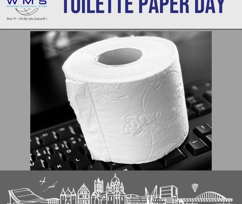 26. August Tag des Toilettenpapiers