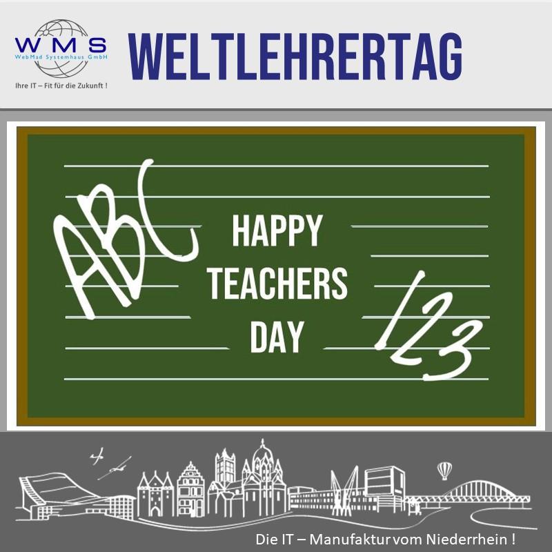 Weltlehrertag - Happy Teachers Day